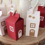 Kalendarz adwentowy - świąteczna wioska - wigilijny domek