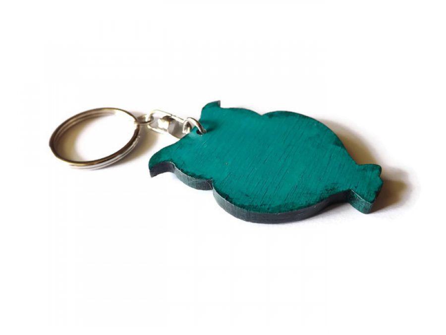 Breloczek Sowa Ażurowa - zieleń morska