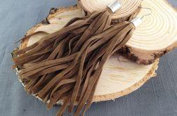 Houppe - kolczyki sutaszowe z frędzlami
