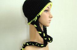 narciarska czapka z warkoczami - kolory