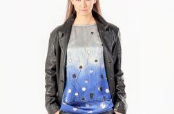 Bluzka jedwabno-bawełniana blue