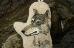 Rękawica kuchenna z wilkiem