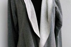 Narzutka dresowa kardigan oversize c.szary
