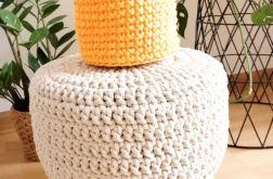 Koszyk 17x14cm,sznurek bawełny,żółty.