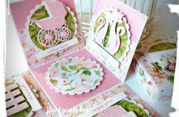 Różowe pudełko na ślub
