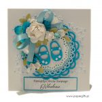 Pamiątka Chrztu dla chłopca - Niebieska kartka na chrzest