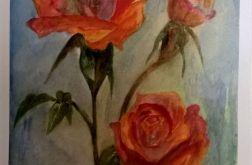 Akwarelowe róże.
