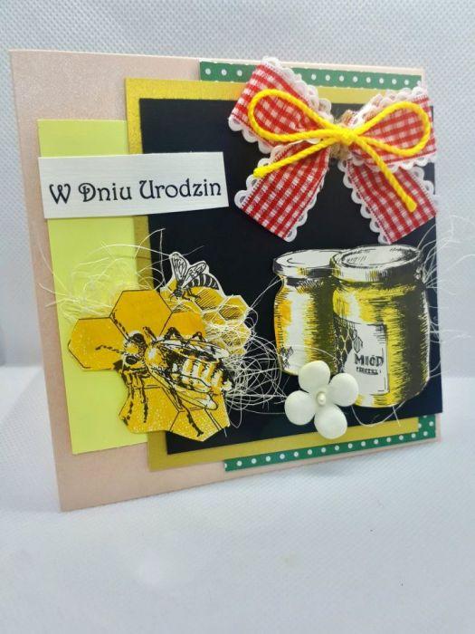 Kartka dla pszczelarza #1 pszczoły miód  - 2