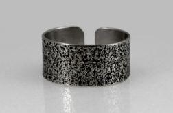 Piasek - srebrna obrączka 130620-08