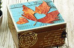 szkatułka/ pudełko- jesienne serce