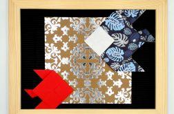 Obrazek origami z papieru na ścianę Ryby