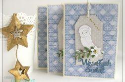 Kartka świąteczna z ptaszkiem 3