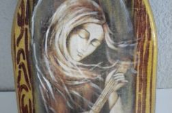Z mandoliną -Anioł w kształcie ikonki