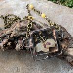Herbario w kwadracie: kasztanowiec - wisior z kwiatami