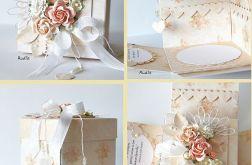 Ślubne pudełko z kieszonkami b.1