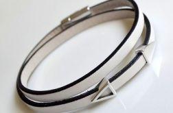 Bransoletka White leather *