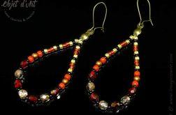 Kryształowe Wężowe Kolczyki Krople