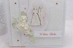 Urocza kartka ślubna z pudełkiem