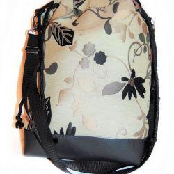 Torebka damska torba worek kwiat wiązana