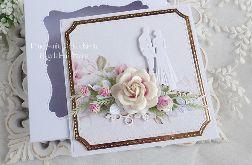 Ślubna kartka w pudełku 463