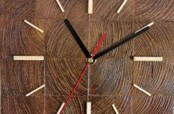 Zegar drewniany stojący Kostka