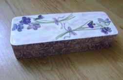 Piórnik drewniany