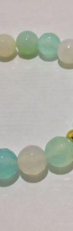 Bransoletka agat lazurowy fasetowany model 2