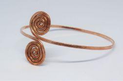 Słowiańskie spirale - bransoleta na ramię