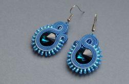 Kolczyki niebieskie małe