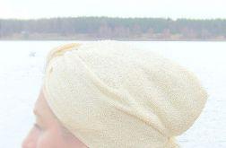kremowy turban kąpielowy, pastelowy turban