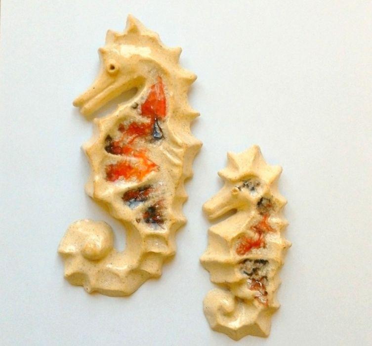Koniki morskie ceramiczne zestaw 2 sztuki
