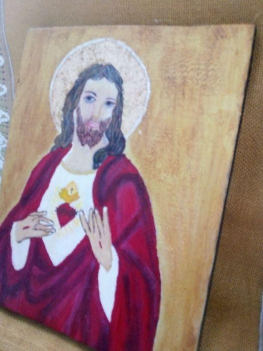 Serce Jezusa - ikona  - widok z boku
