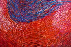 obraz olejny abstrakcja dna duży