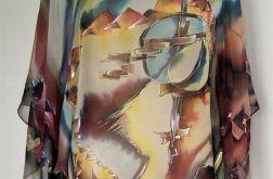 Bluzka - tunika jedwabna. XL