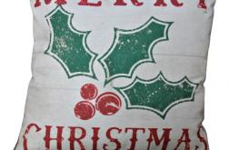 Poszewka świąteczna -motyw 6 - Ostrokrzewy