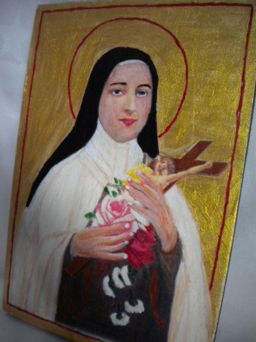 Ikona św Teresa - zbliżenie boczne
