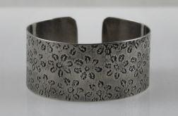 Metalowa bransoletka - kwiatuszki