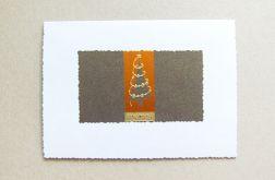 kartka na Boże Narodzenie-brąz