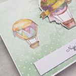Kartka urodzinowa lub imieninowa z motywem balonów - Lewy bok