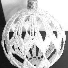 Szydełkowe bombki ozdoby świąteczne