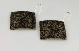 Zawijasy - mosiężne kolczyki 140604-02