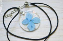 Zatopek Hortensja błękitna naszyjnik