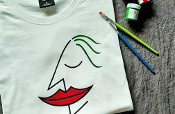 Koszulka ręcznie malowana Joker face unisex