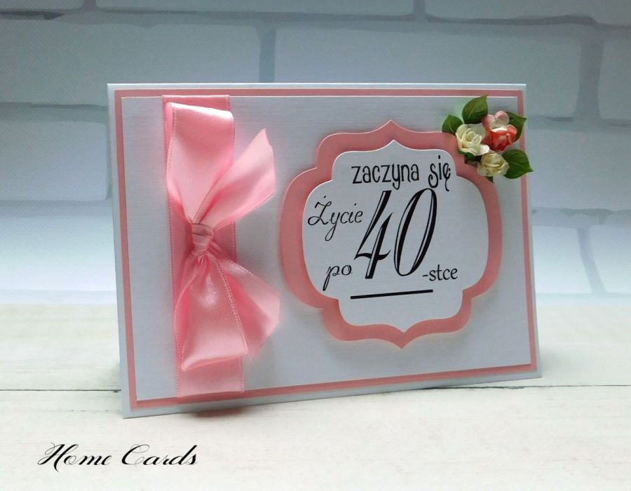 Kartka urodzinowa 40 lat