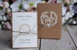 Rustykalna kartka ślubna z pudełkiem 28