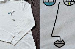 Koszulka długi rękaw ręcznie malowana unisex