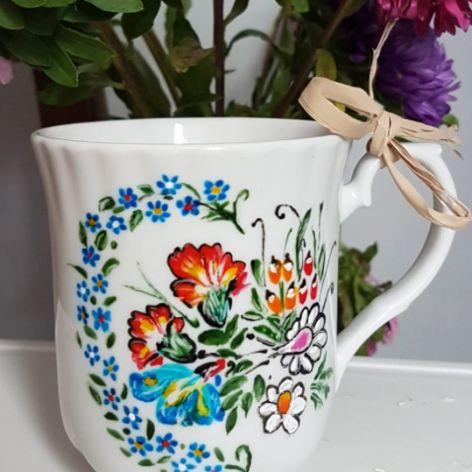 Kubek polskie kwiaty- możliwość dedykacji