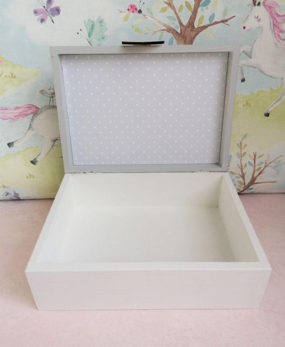 Pudełko bez przegródek z imieniem - MmC14 - szkatułka bez przegródek