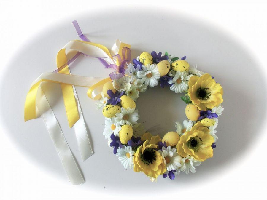 REZERWACJA Wielkanoc- wianek w radosnych kolorach