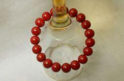 24.Bransoletka ze szklanych koralików 10mm